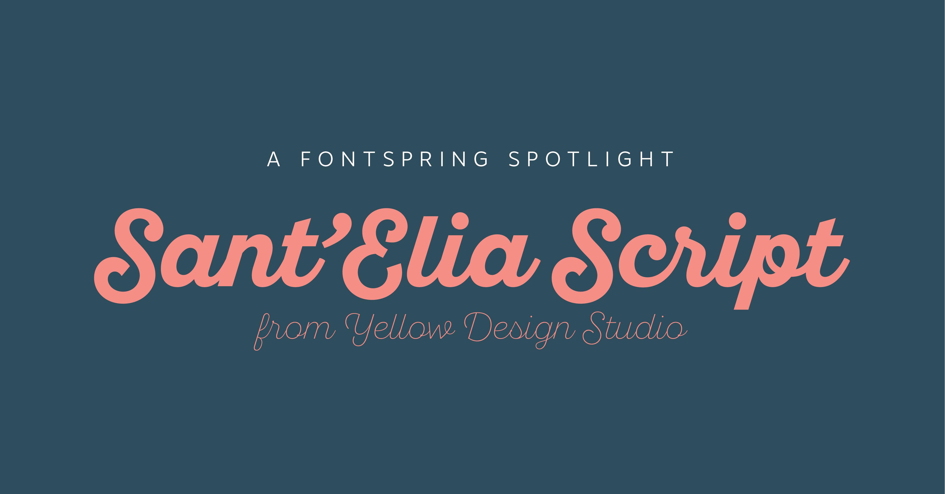 Font Spotlight: Sant'Elia