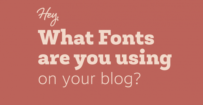 What fonts are we using on the blog